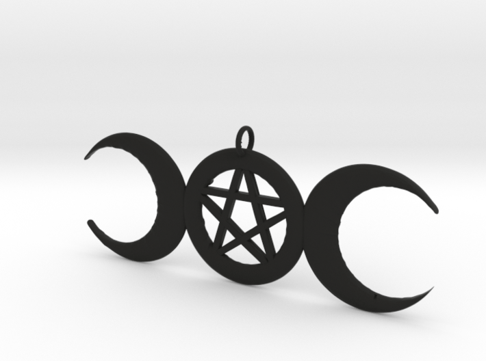 WitchMoon Pendant 3d printed