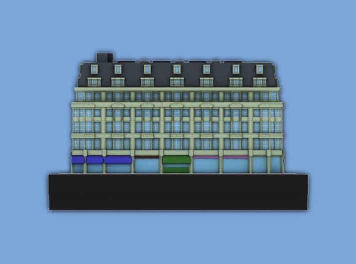 London Set 1 Apartments above Shopping Strip 3 x 4 3d printed