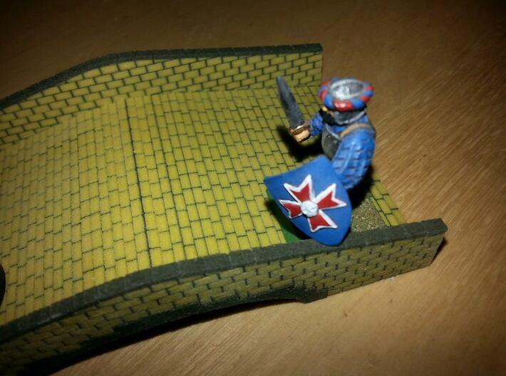 Sandstone Bridge (25mm scale) 3d printed A soldier defending the bridge