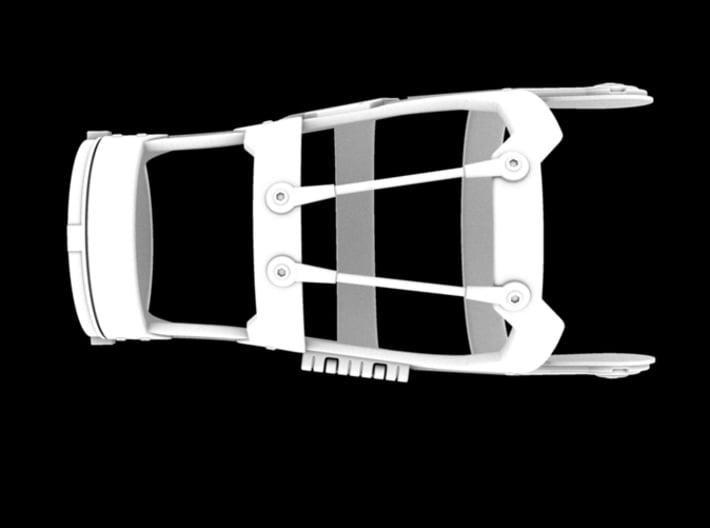 Iron Man Mark III Forearm Frame (Left Side) 3d printed CG Render (Top)