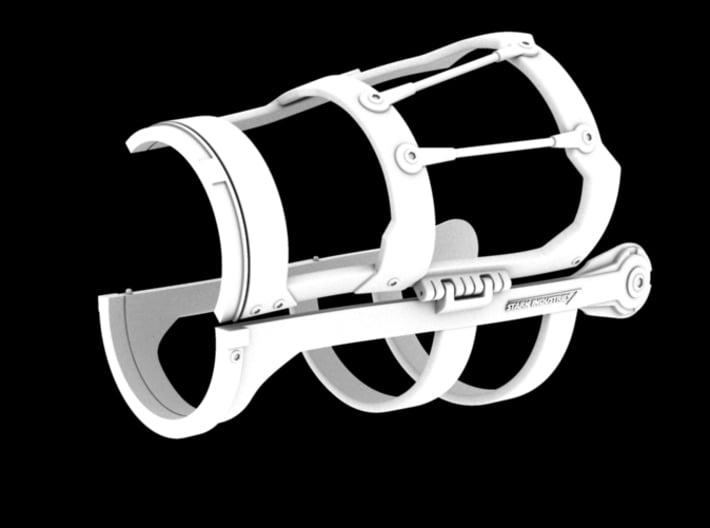 Iron Man Mark III Forearm Frame (Left Side) 3d printed CG Render (Open)