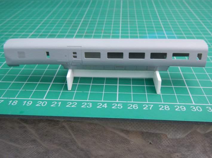 APT TBF body 3d printed TBF with a coat of grey primer.