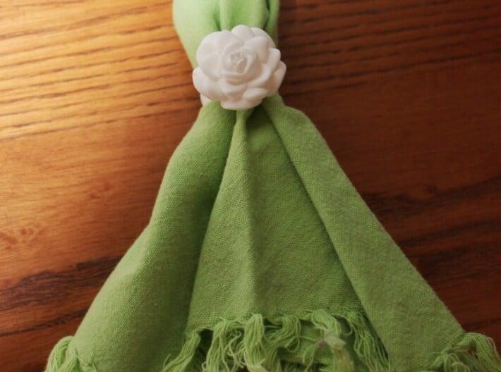 Rose Napkin Ring 3d printed