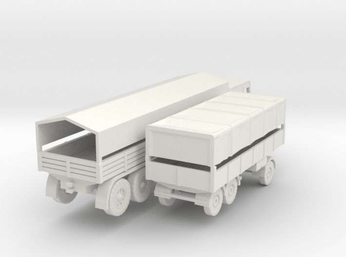 1/144 Faun L1500 D987 with 3 Axis trailer 3d printed