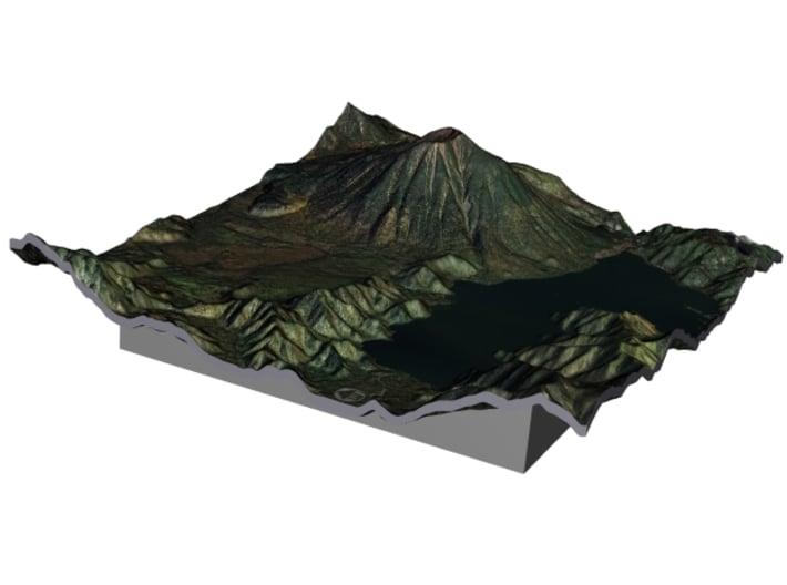 Mt. Nantai Map, Japan 3d printed