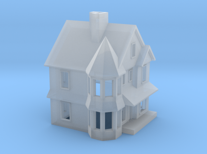 Queen Anne House - 1:285scale 3d printed