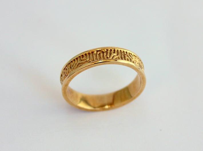 coral ring narrow size 7 3d printed