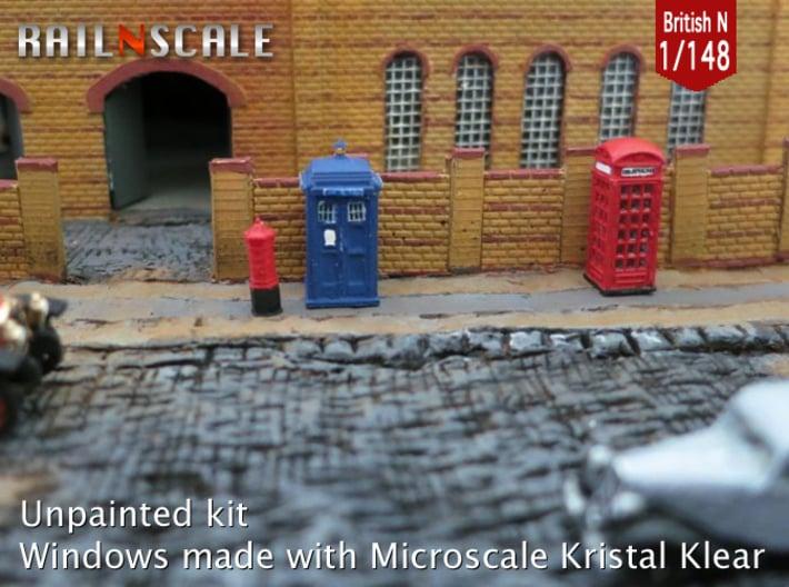 Street furniture SET (British N 1:148) 3d printed