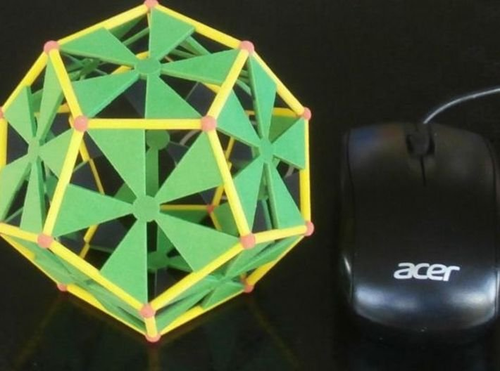 Colored Sandstone dodecahedron, 10 cm 3d printed