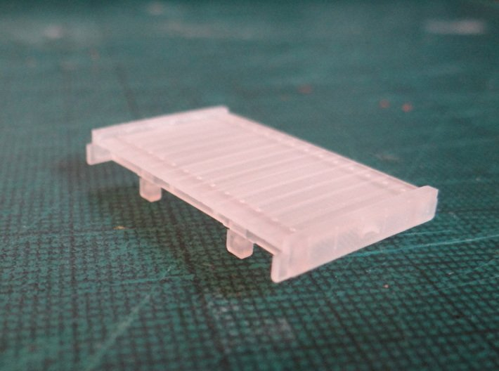 8ft Narrow Gauge Flat Wagon (x3) 3d printed Straight from the Printer