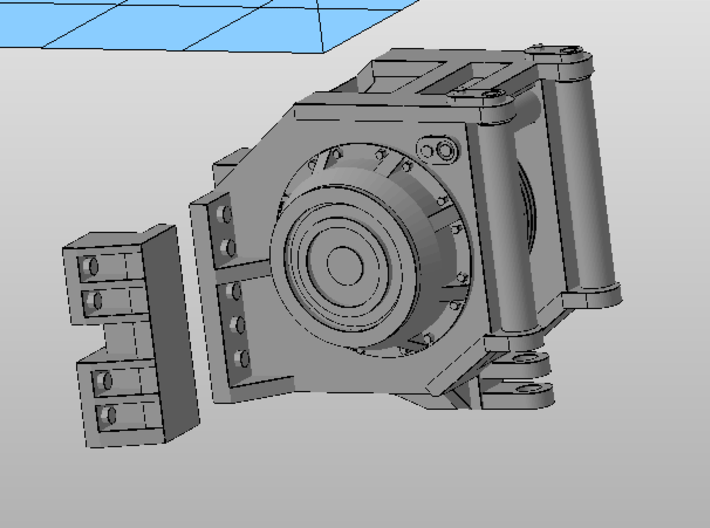 1:50 scale Winch Kit for large dozer models.  3d printed