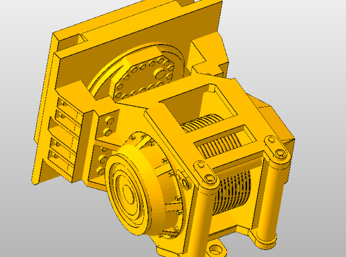 1:50 Winch for Norscot/Diecast Masters D8R  3d printed