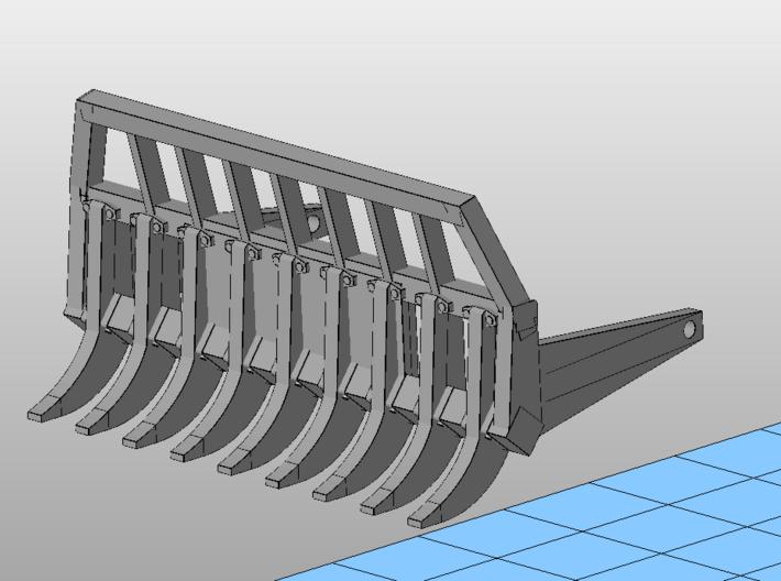 1:50 NZG Cat D4 Root rake. 3d printed