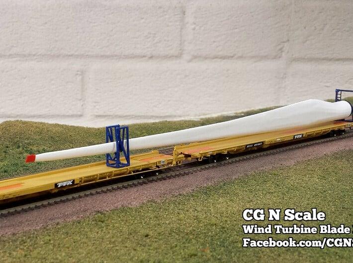 N Scale Wind Turbine Blades - 3 Pack (Part 2 of 2) 3d printed