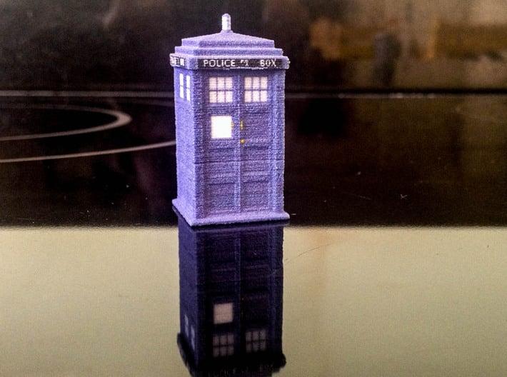 1:76 scale TARDIS 3d printed