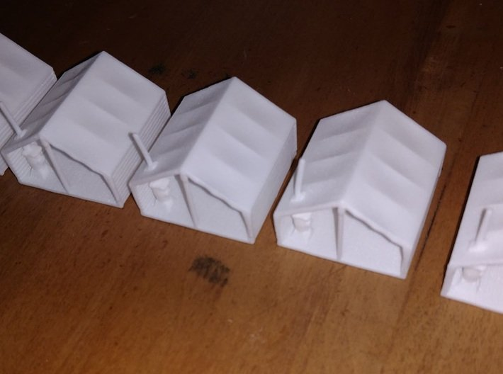 HO Scale Minner's Tent Cabin 3d printed More than one makes a small villiage