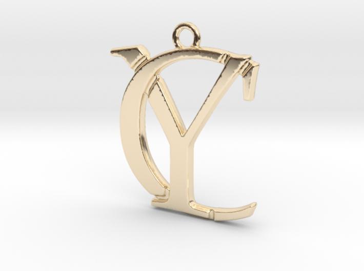 Initials C&Y monogram 3d printed