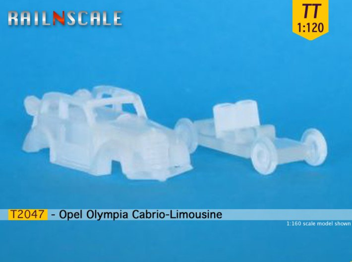 Opel Olympia Cabrio-Limousine (TT 1:120) 3d printed
