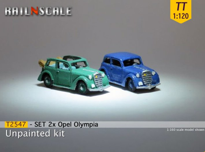 SET 2x Opel Olympia (TT 1:120) 3d printed