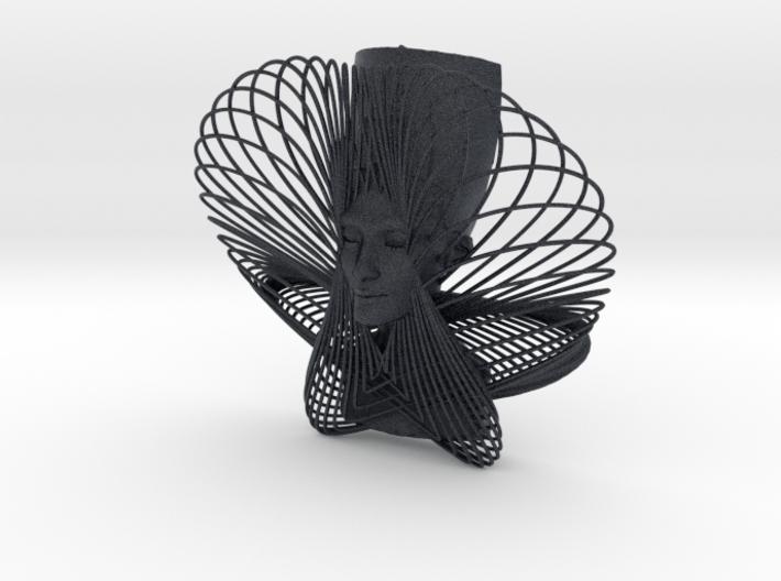 Enneper Curve Art + Nefertiti (001b) 3d printed