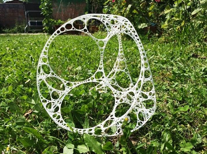Apollonian Tetrahedron XXL 3d printed White Strong & Flexible