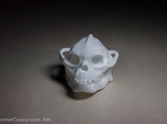 Skull 6 Hollow 2 3d printed White plastic print