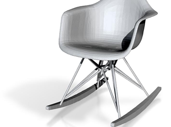 Eames Rocker Chair Miniature - 6.5cm tall 3d printed