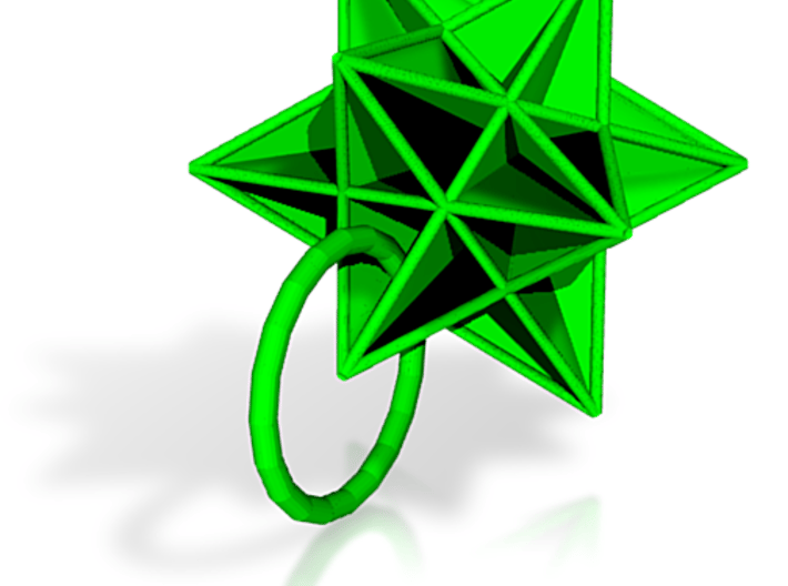 Great Icosahedron Pendant 3d printed