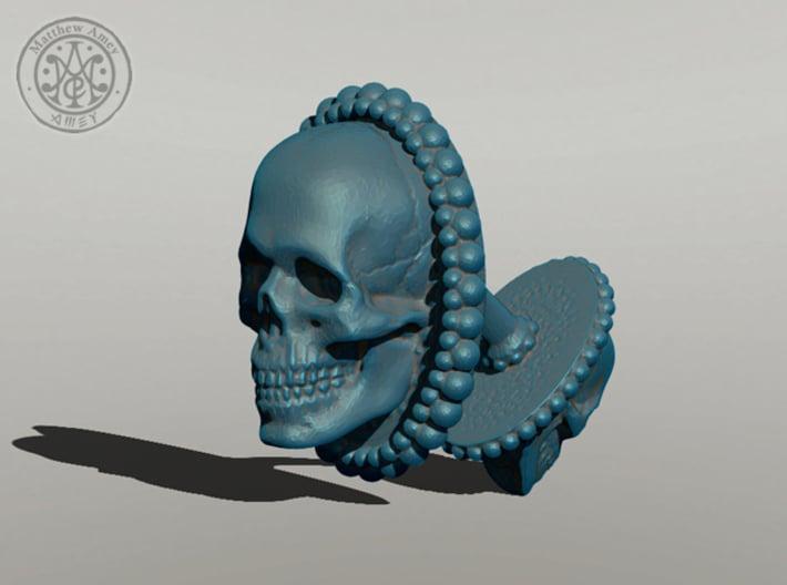 Skull cuff link - 25mm 3d printed