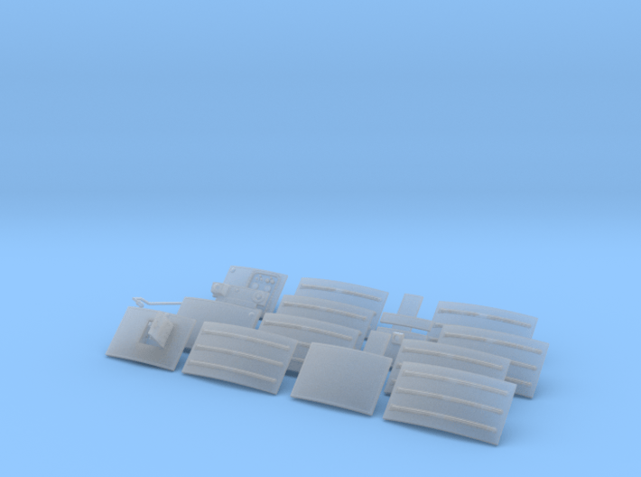 SM upper radiators 3d printed