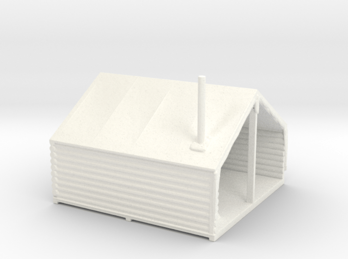 HO Scale Minner's Tent Cabin 3d printed