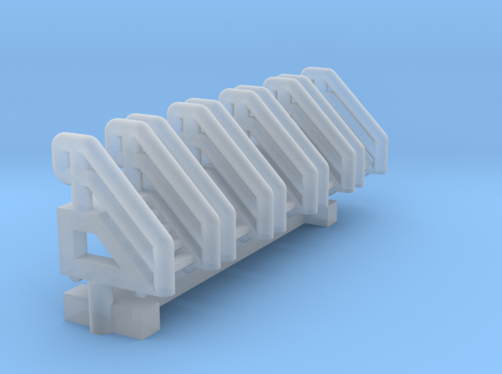 1:400 Aircraft Maintenance Stand 5 steps 5pc 3d printed