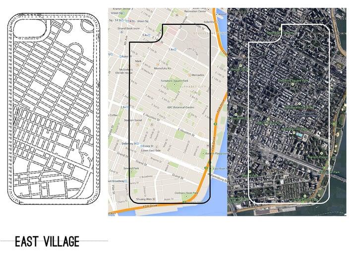 East Village NYC Neighborhood Map iPhone 5/5s Case 3d printed