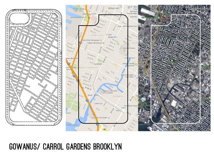 Gowanus/ Carroll Gardens Brooklyn Map iPhone 5/5s  3d printed