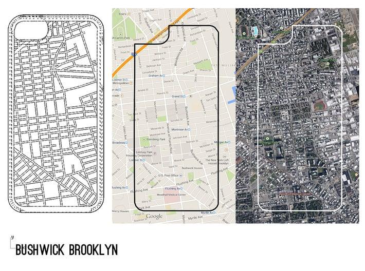 E. Williamsburg/ Bushwick Brooklyn Map iPhone 5/5s 3d printed