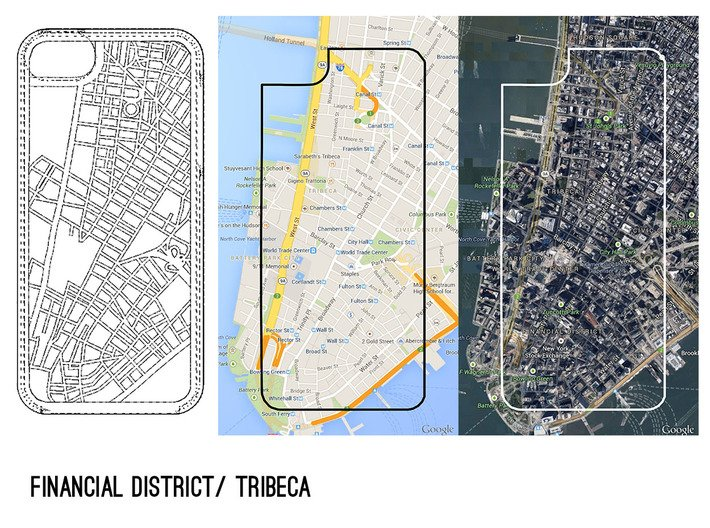 Financial District/ Tribeca NYC Map iPhone 5/5s Ca 3d printed