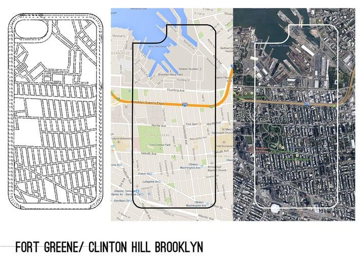 Fort Greene/ Clinton Hill Brooklyn Map iPhone 5/5s 3d printed