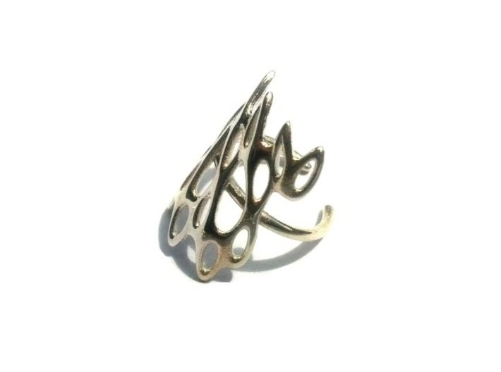 Fantasia Ring 3d printed Polished Silver