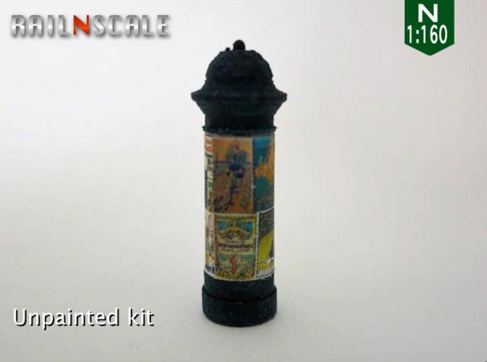 Litfaßsäule (N 1:160) 3d printed