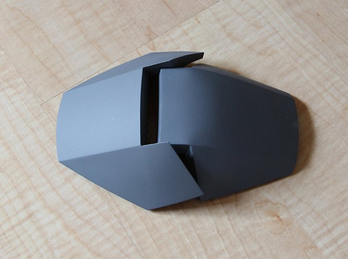 Iron Man Handshield Armor (one hand) 3d printed Actual 3D Print in Strong & Flexible Plastic. Sanded and Primed.