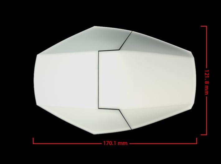 Iron Man Handshield Armor (one hand) 3d printed CG Render (Top Measurements)