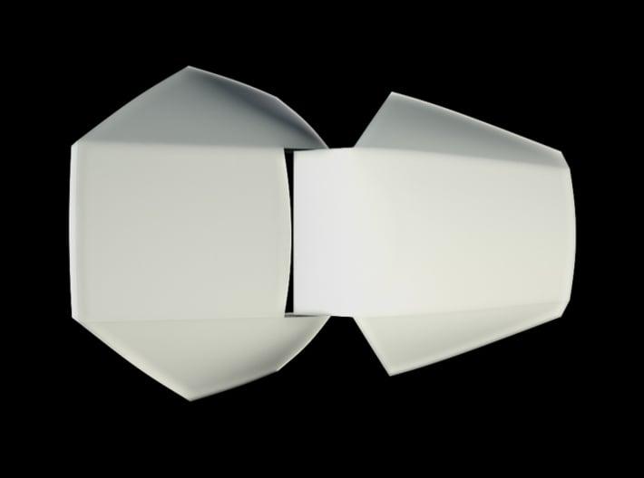 Iron Man Handshield Armor (one hand) 3d printed CG Render (Top Open)