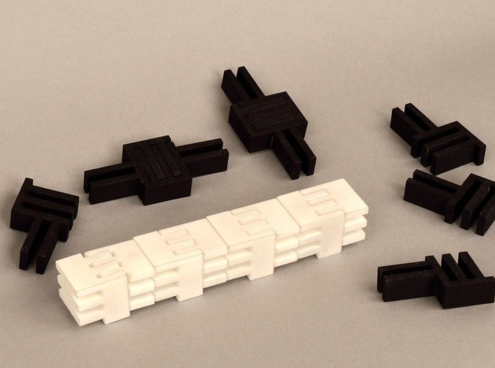 Puzzle Cube, Negative (black) pieces 3d printed abstract reassembly