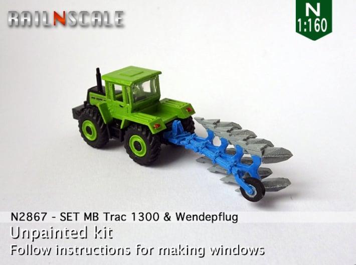 SET MB Trac 1300 & Vierscharige Wendepflug (N) 3d printed