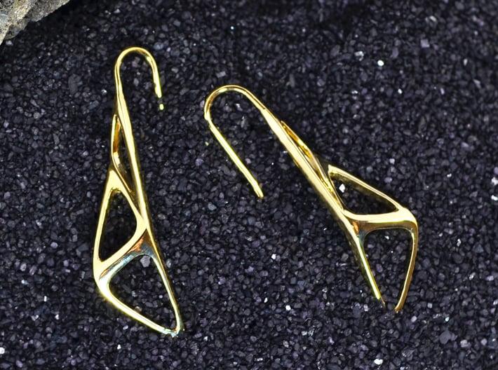 sWINGS Soft Structura, Earrings 3d printed