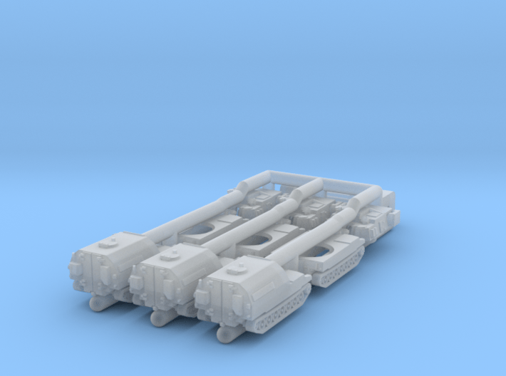 Paladin SP Howitzer and Ammunition Supply Vehicle  3d printed the pieces arrive caged together to avoid loss and damage - NO SPRUES to cut away!