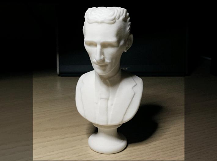 Nikola Tesla Bust Small 3d printed