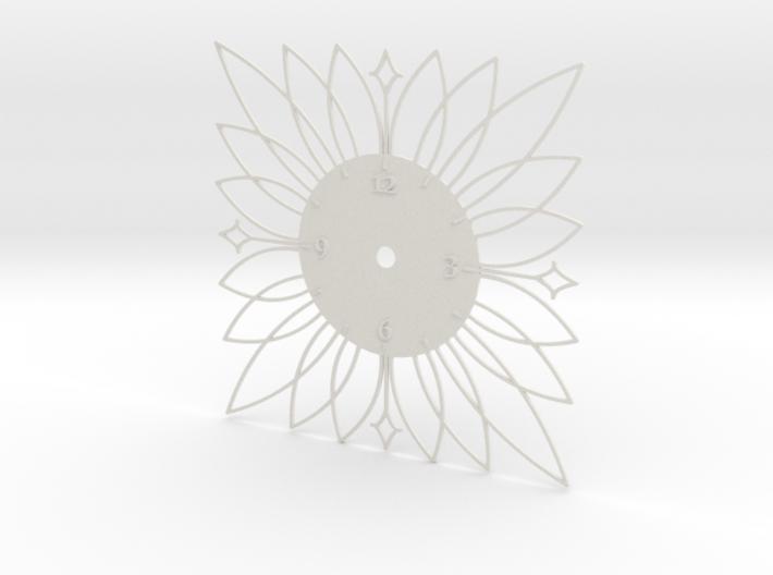 Sunburst Clock - Blossom 3d printed