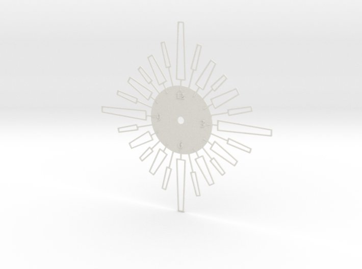 Sunburst Clock - Velma 3d printed