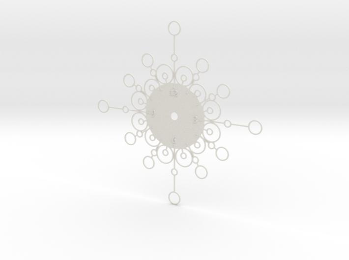 Sunburst Clock - Cordelia 3d printed